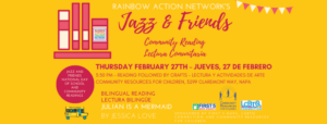 Rainbow Action Network's Jazz & Friends Community Reading @ Community Resources for Children | Napa | California | United States