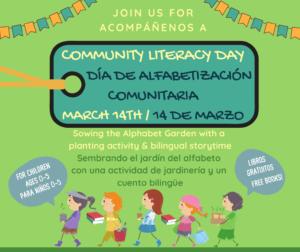 CANCELED - Community Literacy Day - Día de Alfabetización Comunitaria @ Community Resources for Children | Napa | California | United States