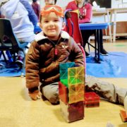 Mother participating in Active Minds, CRC's school readiness program