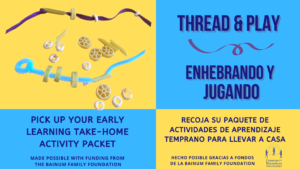 Early Learning Take-Home Activity - Thread & Play - Enhebrando y Jugando @ Community Resources for Children | Napa | California | United States