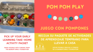 Early Learning Take-Home Activity - Pom Pom Play @ Community Resources for Children   Napa   California   United States