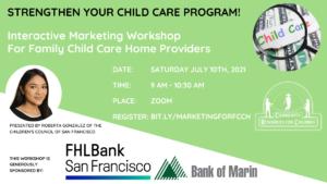 Marketing Workshop for FCCH Providers @ Online via Zoom